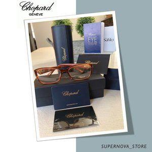 👓 Chopard Rx Eyeglasses Frames Brown Gold 23k